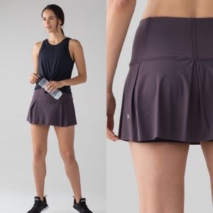 NWOT Lululemon Lost In Pace Skirt Black Currant 6